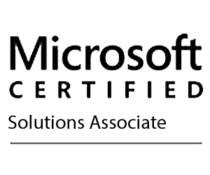 Logo for Microsoft course.