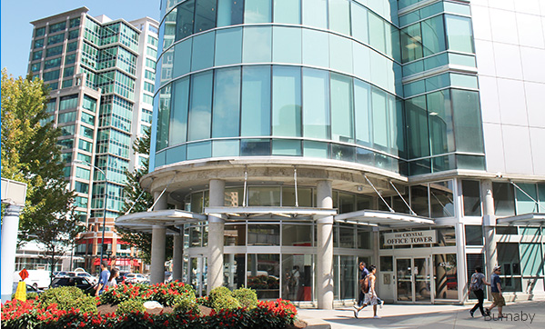 Brighton College's Burnaby campus is located on the third floor of the Crystal Office Tower attached to Crystal Mall.
